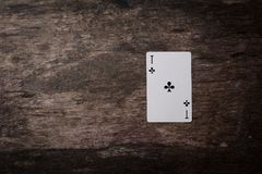 Ás da obscuridade dos cartões de jogo Fotos de Stock Royalty Free