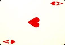 Ás de corações Imagens de Stock
