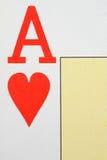 Ás de corações Fotos de Stock