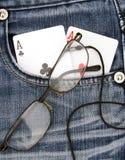 Ás do bolso Imagem de Stock
