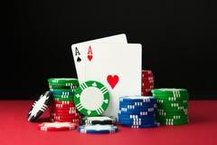 Ás 2 do póquer Imagem de Stock Royalty Free