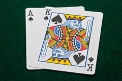 Ás e rei lisos grandes das pás Imagens de Stock Royalty Free