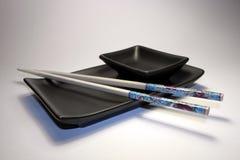 Ásia & alimento: O sushi japonês ajustou I Fotografia de Stock