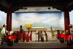 Ásia China, ¼ ŒHistorical de Palaceï do modelo de cera de Minghuang do Pequim e paisagem cultural de Ming Dynasty em China Fotografia de Stock Royalty Free
