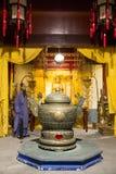 Ásia China, ¼ ŒHistorical de Palaceï do modelo de cera de Minghuang do Pequim e paisagem cultural de Ming Dynasty em China Foto de Stock