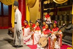 Ásia China, ¼ ŒHistorical de Palaceï do modelo de cera de Minghuang do Pequim e paisagem cultural de Ming Dynasty em China Fotos de Stock