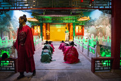 Ásia China, ¼ ŒHistorical de Palaceï do modelo de cera de Minghuang do Pequim e paisagem cultural de Ming Dynasty em China Foto de Stock Royalty Free