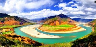 Ásia, China, beleza natural, maravilhas, pastorais, seja Fotos de Stock Royalty Free