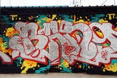 Ásia China, Pequim, 798 Art District, grafitti da parede Imagem de Stock