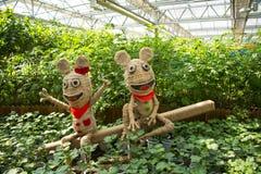 Ásia China, Pequim, carnaval agrícola, arquitetura moderna, área de exposição interna, paisagem de ŒCartoon do ¼ do sceneï foto de stock royalty free
