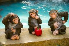 Ásia China, Pequim, carnaval agrícola, macaco interior de ŒCartoon do ¼ do landscapeï foto de stock