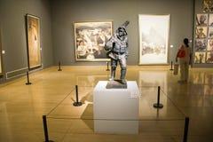 Ásia China, Pequim, China Art Museum, ¼ Œgoing de Sculptureï para baixo para o sul Foto de Stock