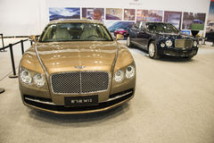Ásia China, Pequim, Convention Center nacional, importa a auto expo Fotografia de Stock Royalty Free