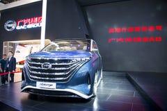 Ásia China, Pequim, exposição do automóvel do international 2016, salão de exposição interno, carro do conceito de Langzhi, eu-sa Imagens de Stock