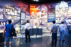 Ásia China, Pequim, museu da guerra da resistência dos povos contra a exposição de ŒIndoor do ¼ de Aggressionï do japonês Imagens de Stock