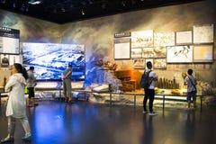 Ásia China, Pequim, museu da guerra da resistência dos povos contra a exposição de ŒIndoor do ¼ de Aggressionï do japonês Fotos de Stock Royalty Free