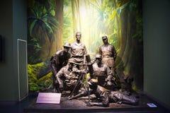 Ásia China, Pequim, museu da guerra da resistência dos povos contra a exposição de ŒIndoor do ¼ de Aggressionï do japonês Fotografia de Stock