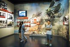 Ásia China, Pequim, museu da guerra da resistência dos povos contra a exposição de ŒIndoor do ¼ de Aggressionï do japonês Fotografia de Stock Royalty Free