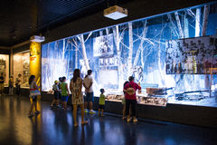 Ásia China, Pequim, museu da guerra da resistência dos povos contra a exposição de ŒIndoor do ¼ de Aggressionï do japonês Imagem de Stock Royalty Free