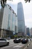 Ásia, China, Pequim, negócio central de CBD, arquitetura de Œmodern do ¼ da torre 3ï do World Trade Center de China Fotos de Stock Royalty Free