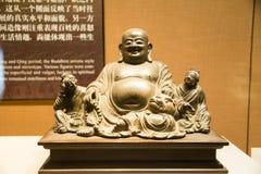 Ásia China, Pequim, o museu principal, salão de exposição interno, maitreya grande-inchado buddha Imagem de Stock