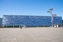 Ásia China, Pequim, os Aquatics nacionais centra-se, a aparência da construção Fotografia de Stock Royalty Free