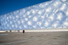 Ásia China, Pequim, os Aquatics nacionais centra-se, a aparência da construção Foto de Stock Royalty Free