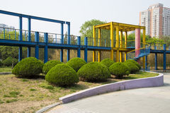 Ásia China, Pequim, parque do palácio de Sun, plataforma de ŒViewing do ¼ do architectureï da paisagem, cogumelo deu forma ao cin Fotos de Stock Royalty Free