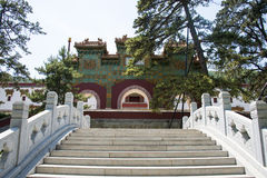 Ásia China, Pequim, parque perfumado do monte, Zhao Temple, o ¼ de pedra Œthe do bridgeï vitrificou a arcada Imagens de Stock Royalty Free