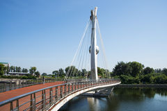 Ásia China, Pequim, ponte da cidade Fotos de Stock