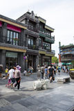 Ásia, China, Pequim, rua de Qianmen, rua comercial, rua da caminhada Foto de Stock