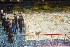 Ásia China, Pequim, salão de exposição planeando, modelo de planeamento urbano Imagens de Stock Royalty Free