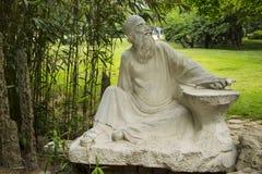 Ásia, China, Qingdao, Shandong, escultura, Gao Fenghan imagens de stock royalty free