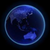 Ásia e Austrália Imagens de Stock