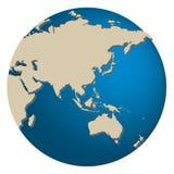 Ásia e Austrália Imagem de Stock