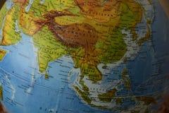 Ásia - mapa político altamente detalhado imagens de stock