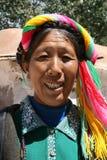 Ásia, Tibet, tibetano da mulher do retrato Foto de Stock