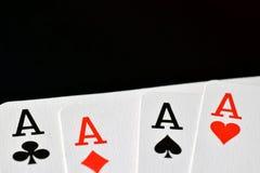 Áss da mão de pôquer quatro Foto de Stock