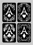 Áss dos cartões do pôquer ajustados Imagem de Stock