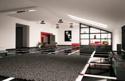 Ático 3d interior Imagen de archivo