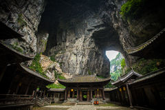 Ático de Tienfu en tres puentes naturales Foto de archivo libre de regalías