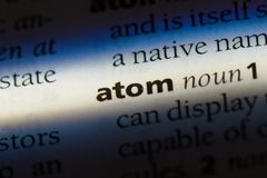 átomo fotografía de archivo