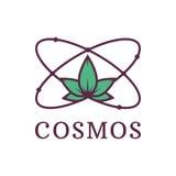Átomo com ciência da natureza cosmos Protecção ambiental Ilustração do vetor ilustração royalty free