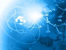 Átomo com moléculas fotos de stock royalty free