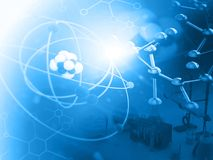 Átomo con las moléculas fotos de archivo libres de regalías
