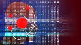 átomo 3D Fotografía de archivo