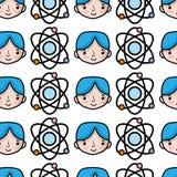 Átomo de la órbita de la física con el fondo del estudiante del muchacho libre illustration