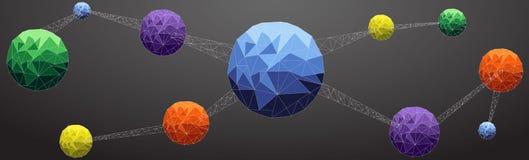 átomo de la conexión Fotografía de archivo