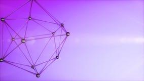 átomo del extracto 3d almacen de metraje de vídeo