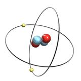 átomo del helio 3d Ilustración del Vector
